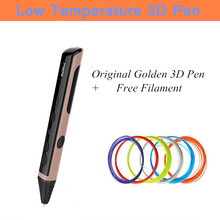 Six Generation Newest Low Temperature 3D Pens Can Voice Broadcast 3D Graffiti Pens Add 25/50/50 Meter PCL Filament Free Shipping