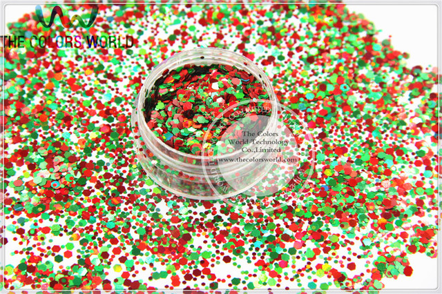 xmas 2 christmas glitter mix shiny christmas colors shapes spangles for nail art nail gel
