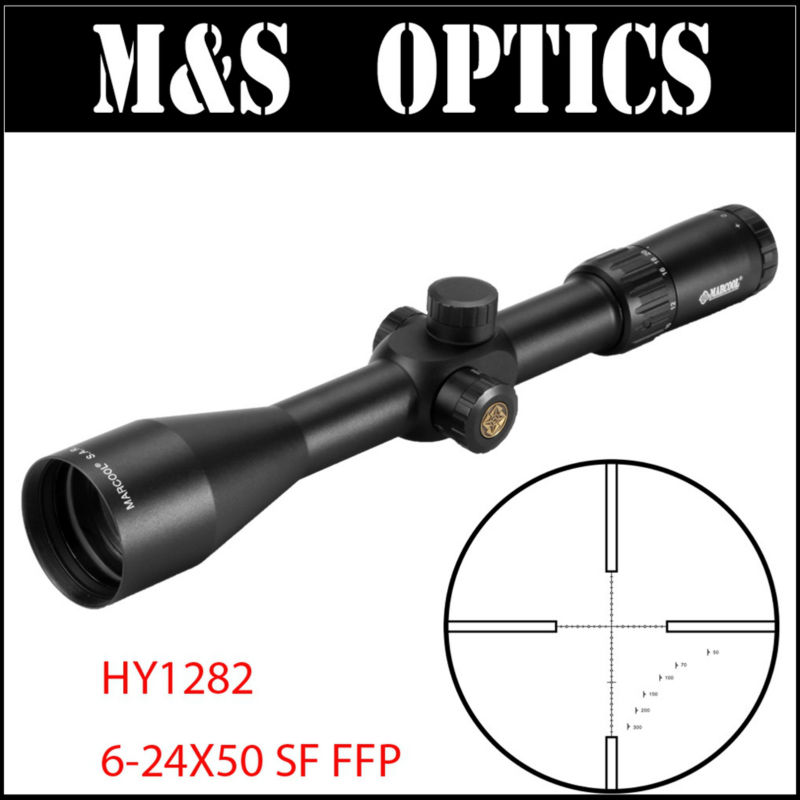Tactical Rifle MARCOOL EVV 6-24X50 SF FFP Optical sight Riflescopes Scope With Range Finder Measuring Reticle For Rilfes Hunting marcool 4 16x44 side focus front focal plane optical sights rifle scope hunting riflescopes for tactical gun scopes for adults