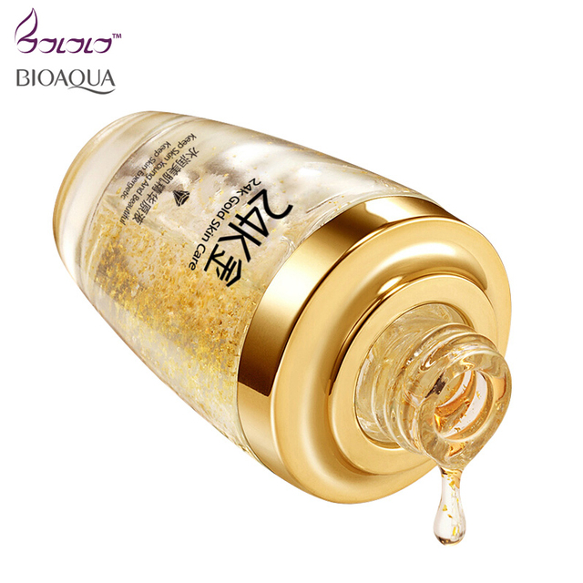 BIOAQUA 24K Gold Face Cream Whitening Moisturizing 24 K Gold Day Creams & Moisturizers 24K Gold Essence Serum New Face Skin Care 2