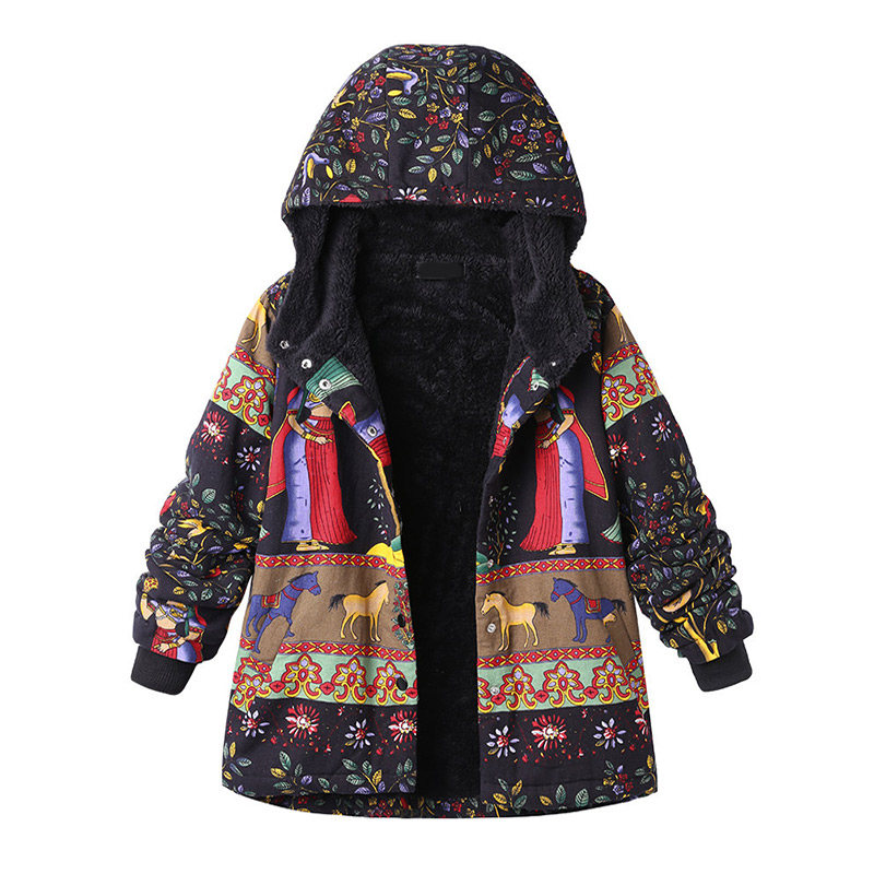 Plus Size Hooded Winter Animal Women