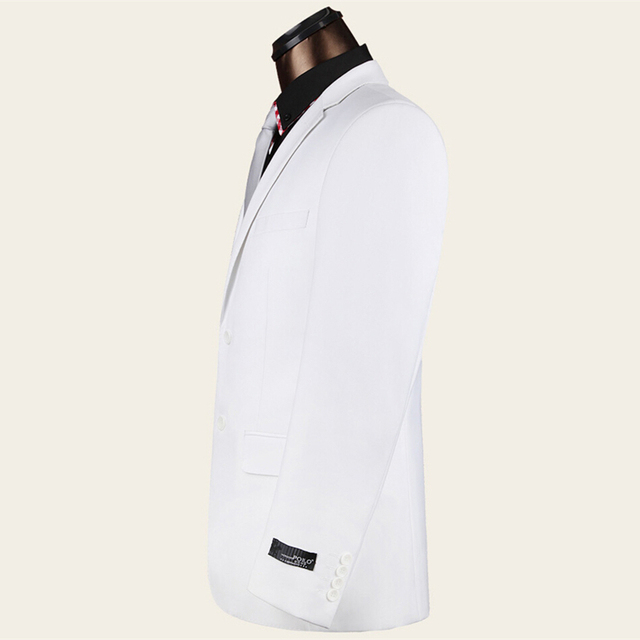 White Wedding Tuxedos For Men Slim Fit Mens Prom Suits Latest Coat Pant Designs Brand Clothing Formal Wear (Jacket+Pants) Q75