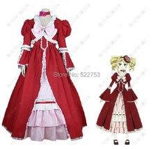 Envío gratis por encargo de la alta calidad negro mayordomo esposa-a-ser Elizabeth Lolita Cosplay del Anime / fiesta vestido para Halloween