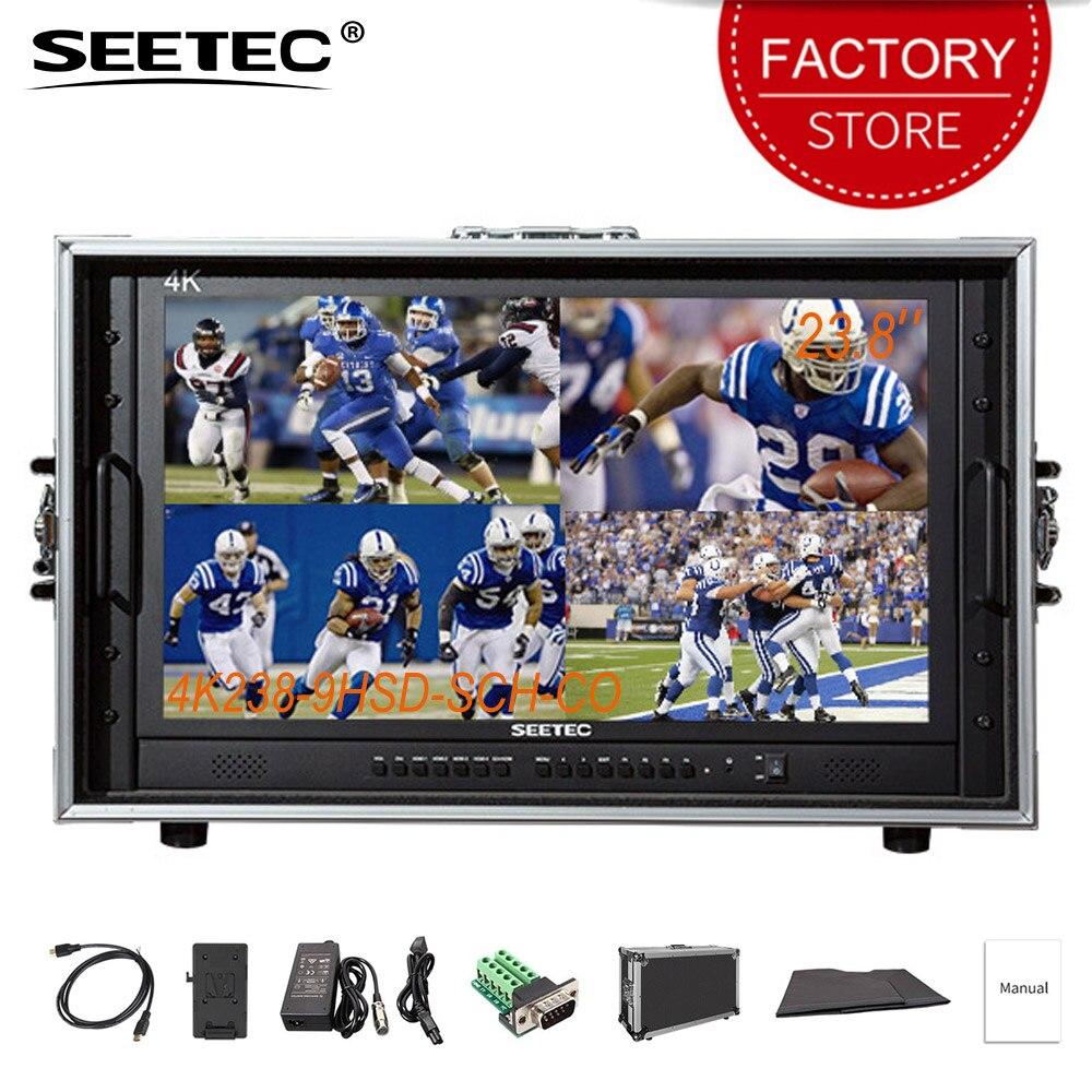 SEETEC 4K238-9HSD-SCH-CO moniteur de directeur de diffusion intégré SDI HDMI convertisseur croisé Ultra HD 3840x2160 IPS affichage