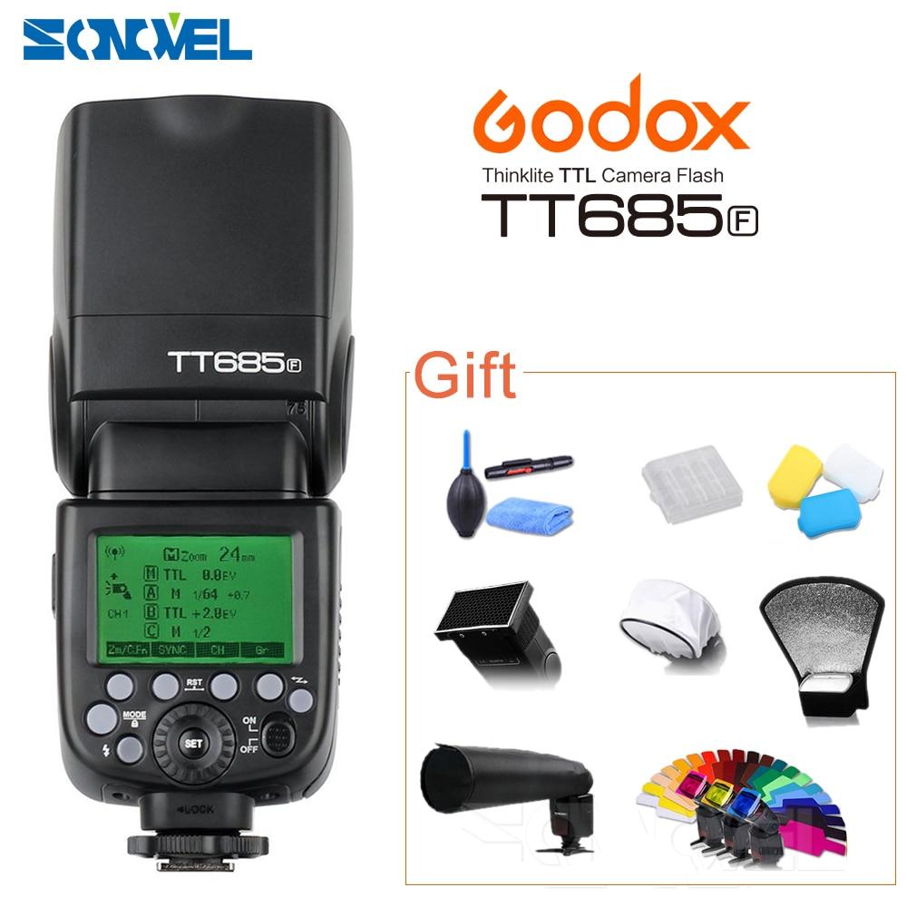 Godox tt685f 2.4 г HSS TTL GN60 flash Скорость lite Высокое Скорость синхронизации внешний TTL для Fujifilm Fuji x pro2 x t20 x t1 X T2 X Pro1 x100