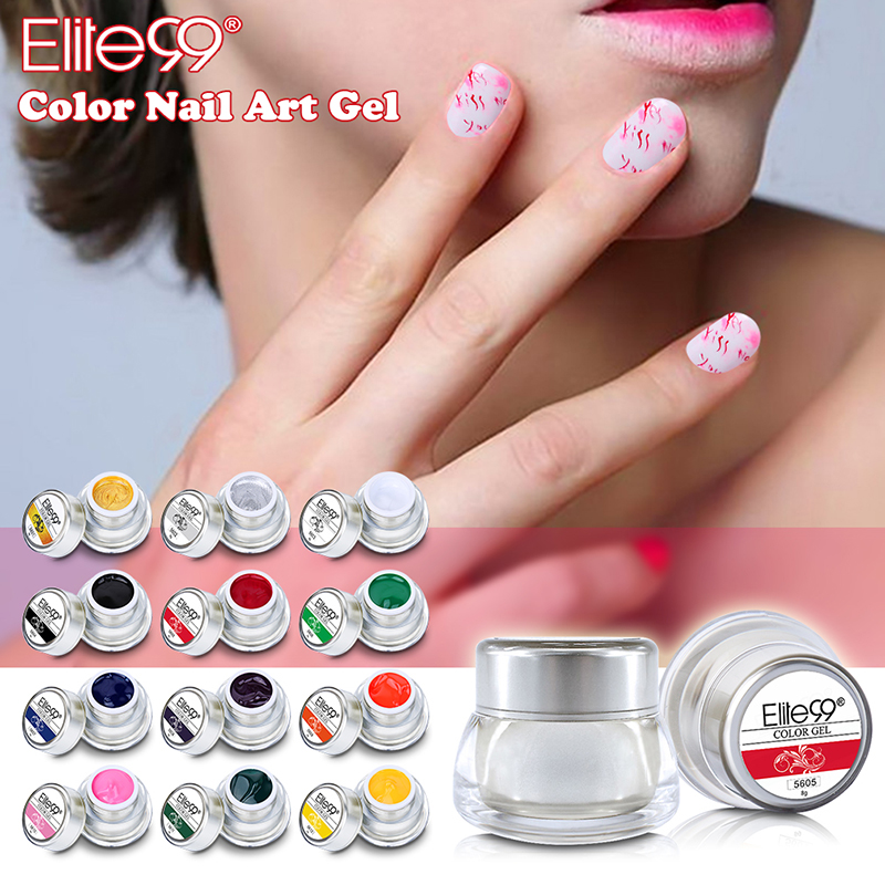 Elite99 3D Nail Art Paint Draw Painting Gels Acrylic Color UV Gel ...
