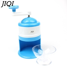 JIQI Household Ice Crushers Shavers Portable Blue and White handheld handstyle snow manual crushing ice machine