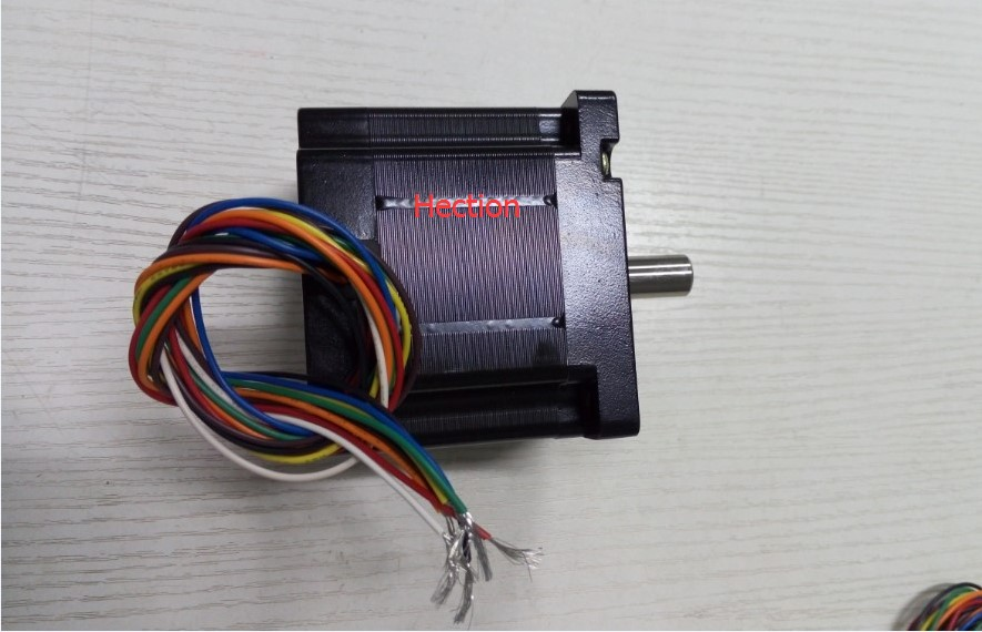 New 8-leads wires NEMA 34 stepper motor output 4.5NM Torque shaft 12.7mm length 30mm motor Length 80mm can change 4 wires model nema 34 stepper motor 34hs59 5004s l150 mm with 1 8 deg stepper angle current 5 a torque 13n cm and 4 wires
