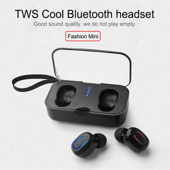 20PCS Wholesale Bluetooth Earphones 5.0 T18S Invisible TWS Mini Wireless Earbuds Stereo Deep Bass Headset with Charging Box