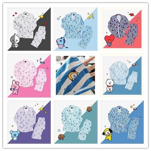 2019 New Women   pajamas     sets   Long Sleeve Kpop Women Bangtan Boys Love Yourself answer Nighty Sleepwear   Set