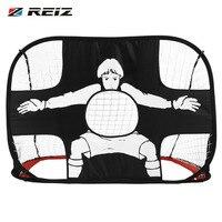 REIZ Foldable Football Gate Net Goal Gate Extra Sturdy Portable Soccer Ball Practice Gate for Children Students Soccer Training