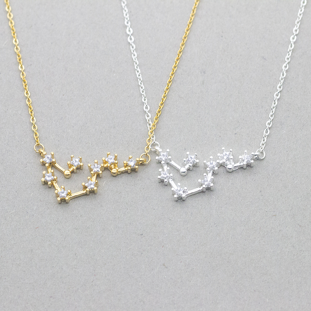 Wholesale 10piece dainty constellations pendants necklace best wholesale 10piece dainty constellations pendants necklace best friend gifts zodiac virgo scorpio jewelry silver gold chain aloadofball Image collections