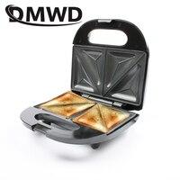 DMWD متعددة الوظائف الكهربائية البيض صانع الساندوتشات صغيرة الخبز شواء الهراء كريب محمصة فطيرة الخبز الإفطار آلة الاتحاد الأوروبي التوصيل
