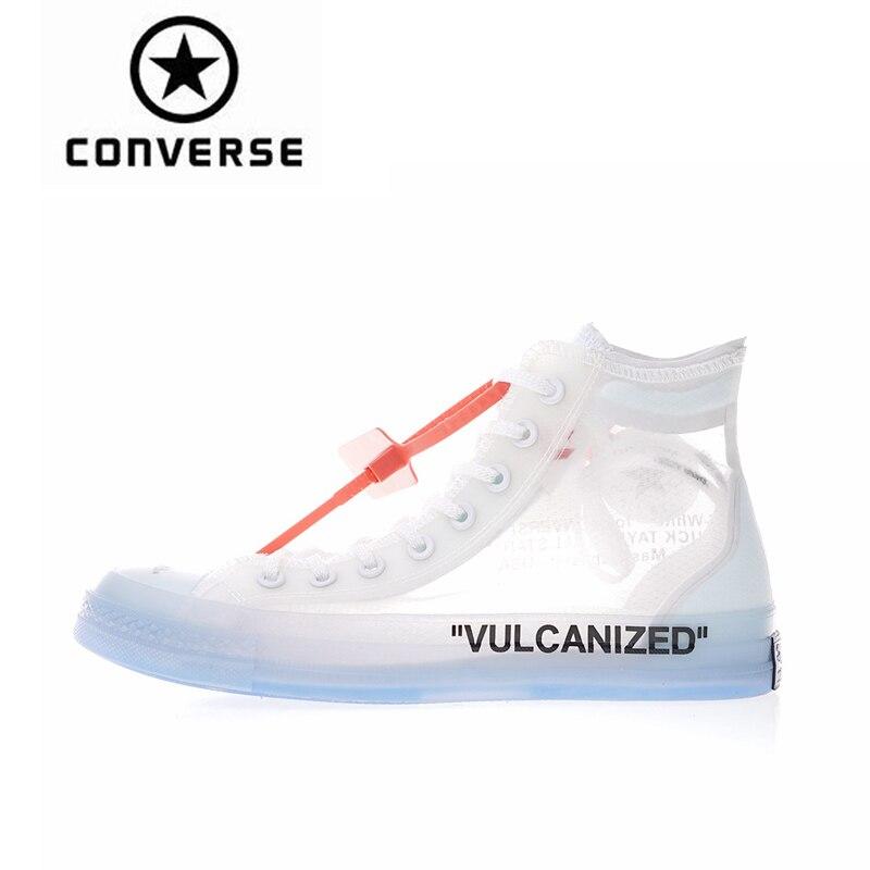 Authentique Classique Converse OFF BLANC High Top Planche À Roulettes Chaussures Unisexe Anti-Glissante Toile Sneakers Designer Sport 1970 s