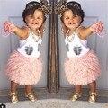 Meninas de pelúcia Rosa Saia Tutu Meninas Saias de Outono Da Menina Da Criança Outono Inverno Saia Crianças Saias Para As Meninas 1-10 anos