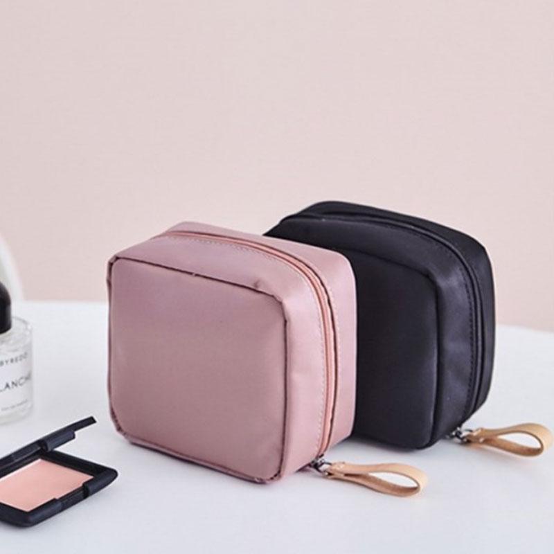 Nylon Cosmetic Bag Small Women MakeUp Organizer Bag Waterproof Storage Bag Travel Portable Mini Bag