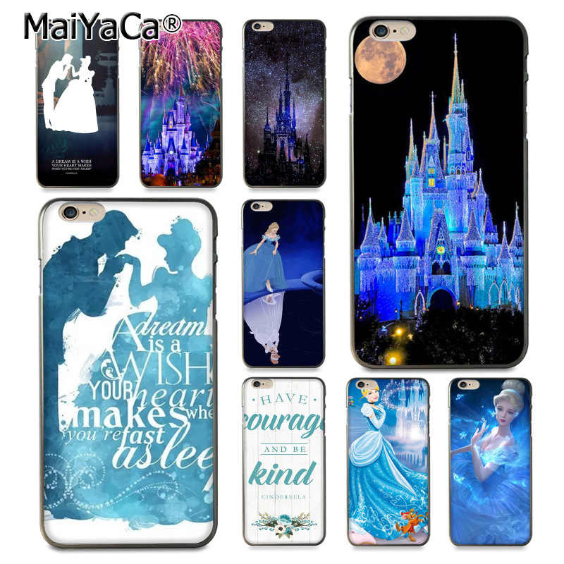 MaiYaCa Colorful Cinderella Castle Magic Kingdom  Coque Shell Phone Case  for Apple iPhone 8 7 6 6S Plus X 5 5S SE 5C Cover