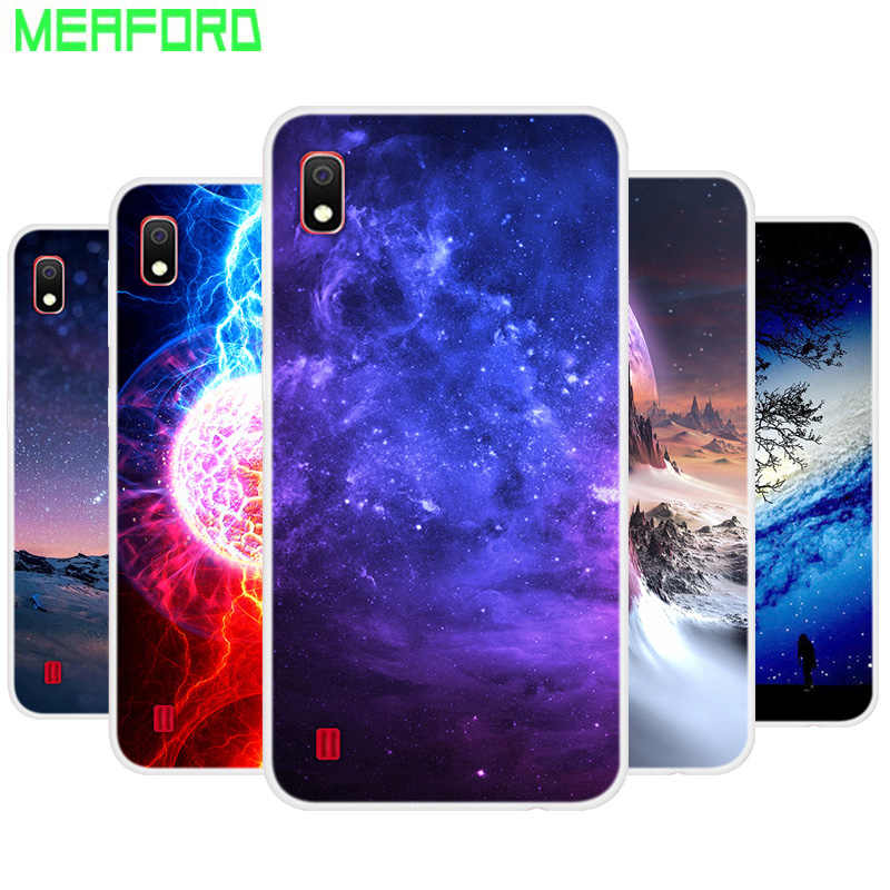 Silicone Case For Samsung A10 Soft Art Star Space Print Phone Back Cover For Samsung Galaxy A10S A10 A 10 S 2019 TPU bumper Case