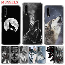 The Wolf Fierce Phone Case for Huawei P30 P20 Mate 20 10 Pro P10 Lite P Smart + Plus 2019 Cover Shell Capa Coque