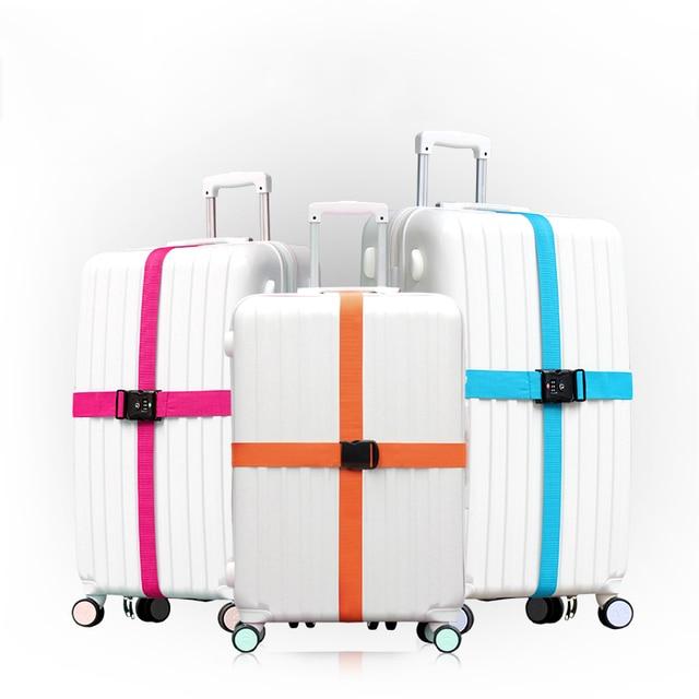 b68068759db8 Travelsky New Travel Luggage Strap Adjustable Lengthened Suitcase Cross Belt  TSA Password Lock Buckle Strap Baggage