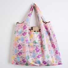New Lady Foldable Recycle Shopping Bag Eco Reusable Tote Floral Fruit Bunny Vegetable Grocery