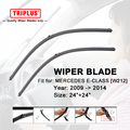 """Wiper Blade for Mercedes Benz E Class W212 (2009-2014) 1set 24""""+24"""",Flat Aero Beam Windscreen Wiper Frameless Soft Blades"""