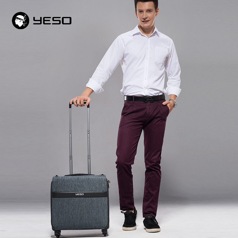 YESO New Business Casual Suitcase Luggage Wheel With Large Capacity Travel Bags Hand Luggage Polyester Trolley Traveling Luggage