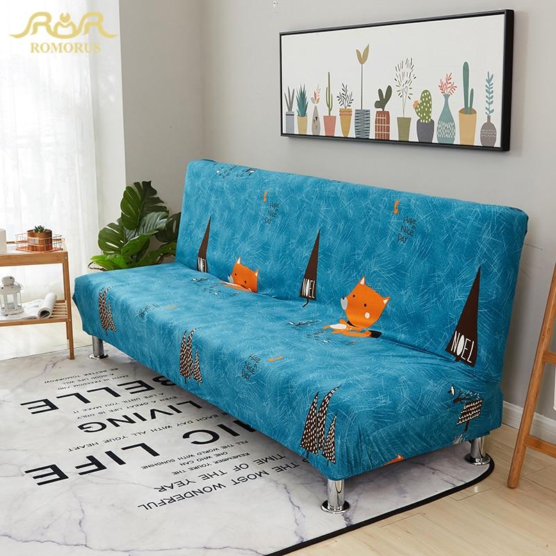 High Elastic Blue Sofa Cover for No Armrest Sofas Elastic