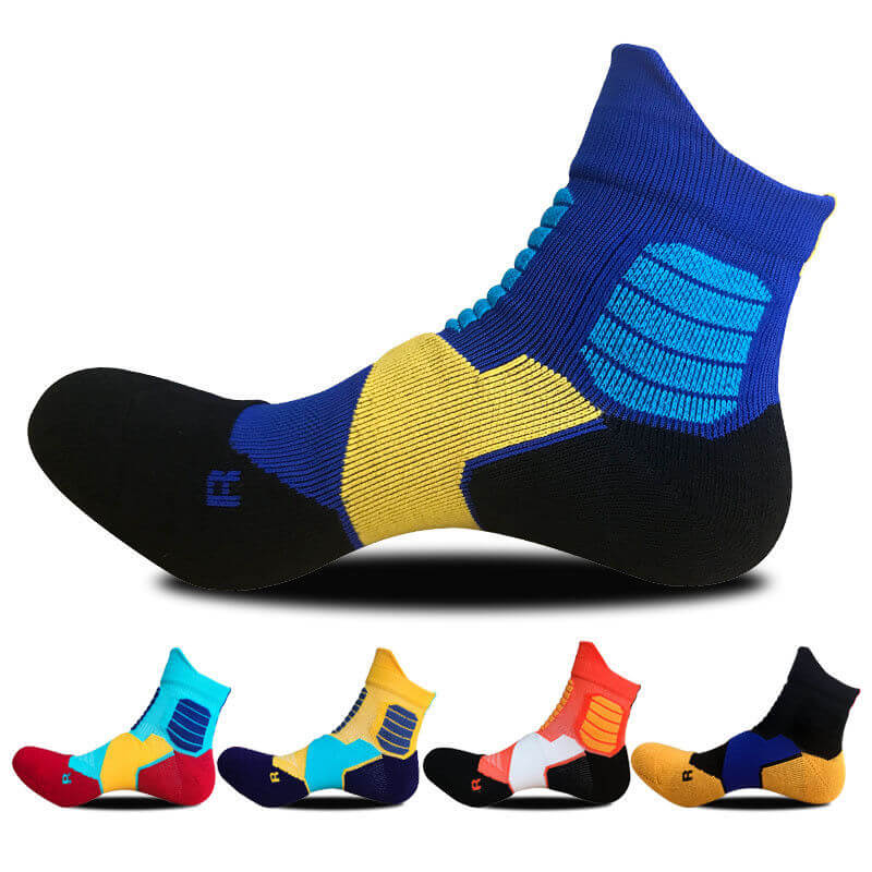 5pairs Mens Sport Ankle Socks Cotton Skating Cycling Camping Hiking Dress Thick Running Climbing Cycling Camping Running Socks