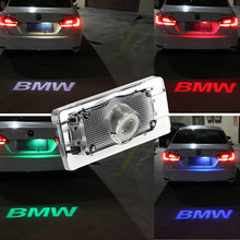 1 unids CANBUS Del Coche LED Luz de la Matrícula 12 V LED proyección Logo Laser Para BMW 3 Serie 5 Serie X3 X1 X5 Coche Accesorios