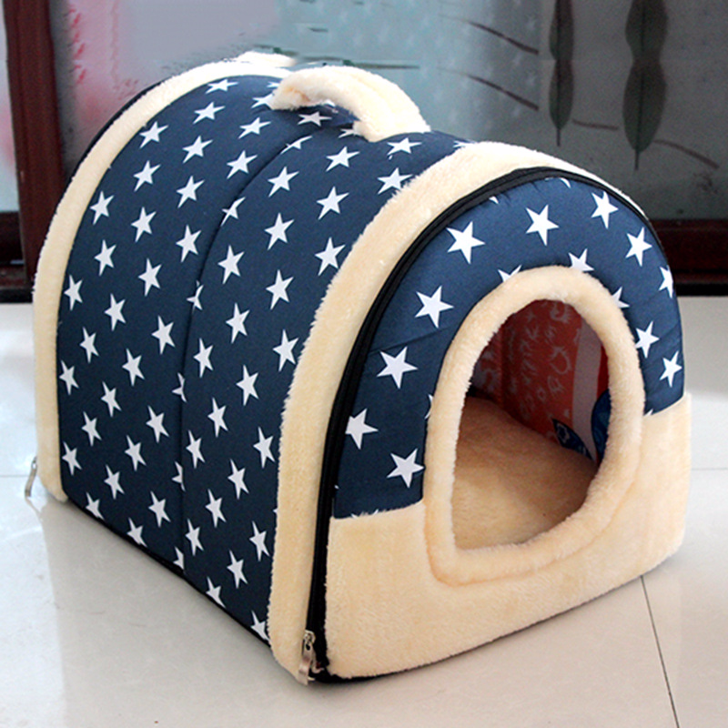 Multifuctional Dog House Nest with Mat Foldable Pet Dog Bed Cat Bed House for Small Medium