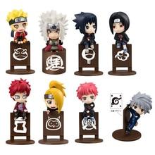 8pcs set Naruto Kakashi Sasuke Uzumaki Figure Anime puppets Figure PVC Toys Model font b Tea