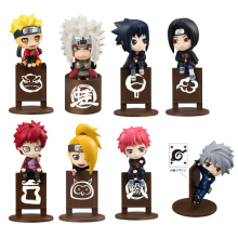 8pcs/set Naruto Kakashi Sasuke Uzumaki Figure Anime puppets Figure PVC Toys Model Tea cup Decoration Accessories Gift #E