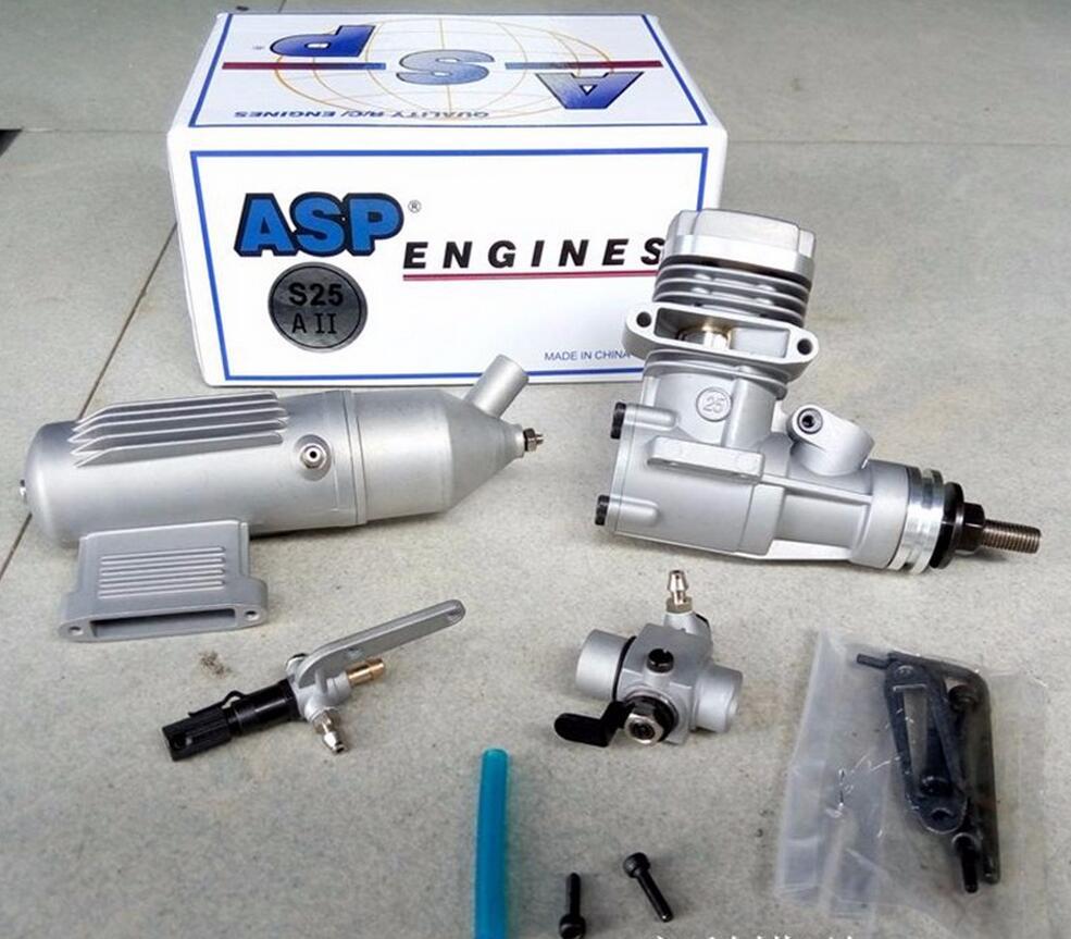ASP 2 Stroke S25A /S25AII 4CC Nitro Engine for RC Airplane original asp wasp ap06 s06a ap061a 061 r c nitro engine 6 grade 1cc mini engine for rc airplane