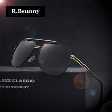 R.Bsunny Brand polarized sunglasses men Original HD Polaroid Lens Reflective Coating Driving  Vintage Male Google Eyewear