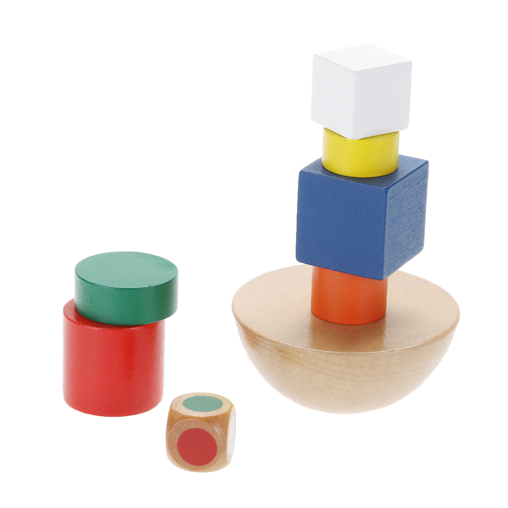 Wooden Toys Hemisphere Balance Stacking Game Toys for Children Educational Wood Toy Building Blocks Kids Baby Toys high quality 50pcs classical and 52pcs forest animals wood building blocks toy bottled children educational wooden toy block