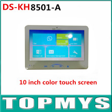 "Indoor Video Intercom DS-KH8501-A with 10"" Color Touch Screen 8 Access 0.3MP Camera TF Card Up to 128G HIK DoorBell Intercom"