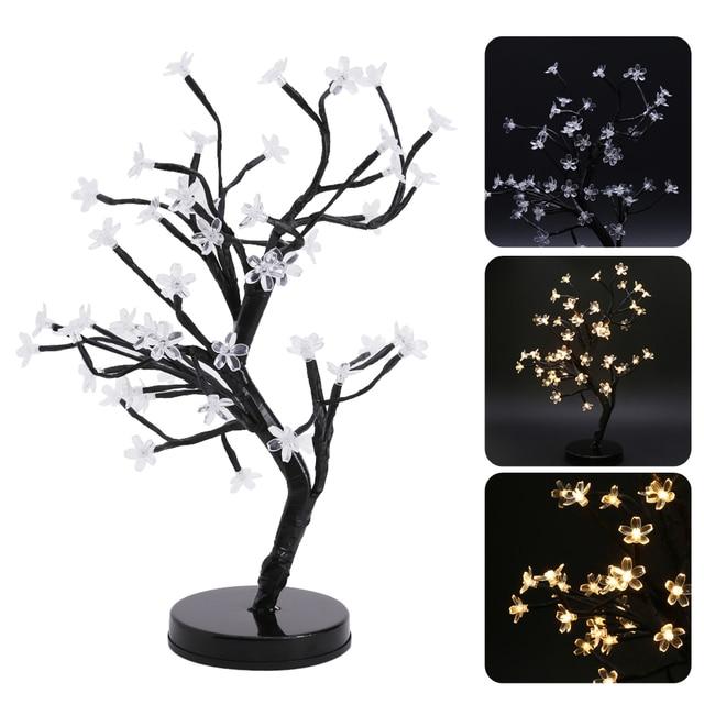 Lumière de nuit LED Fleur De Cerisier Bonsaï Arbre Fée Brindille ...