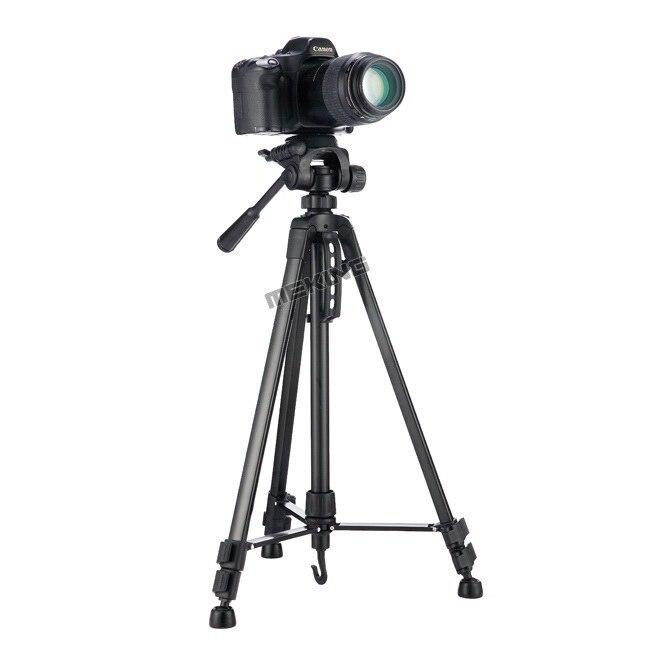 Meking Novo 140 centímetros WF-3520 55 polegada Professional tripé para Câmera Filmadora tripé Preto tripe extensor parágrafo foto