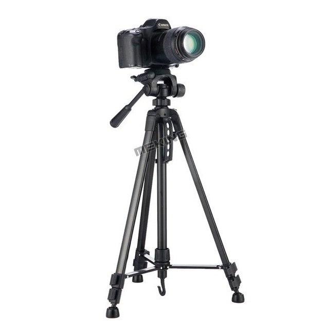 Meking Novo 140 cm WF-3520 55 polegada Professional tripé para Câmera Filmadora tripé Preto tripe extensor parágrafo foto