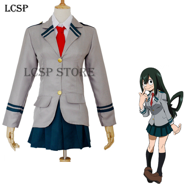 LCSP mi héroe Academia tsuyu asui Cosplay traje japonés