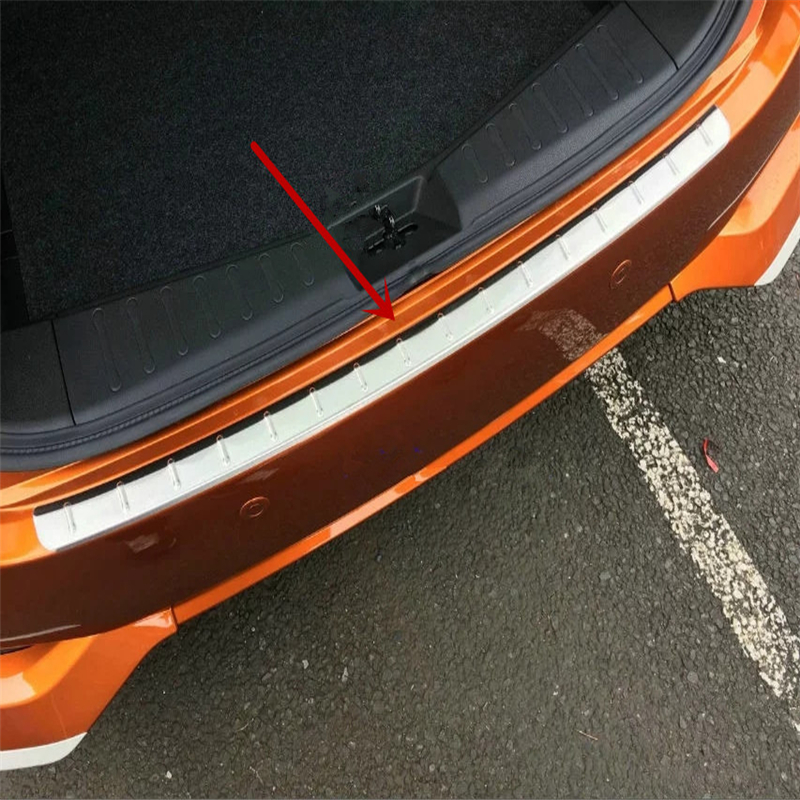 Car Styling Accessories For Nissan Note 2017 Stainless Steel Exterior Rear Bumper Foot Plate Cover Trim Protector Car Stickers