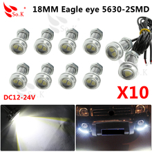 10x Eagle Eye 12v 5630 18mm White Eagle Eyes Auto Lamp Led Eagle Eye Drl Feux De Jour Led Eagle Eye Drl Day Time Running Light