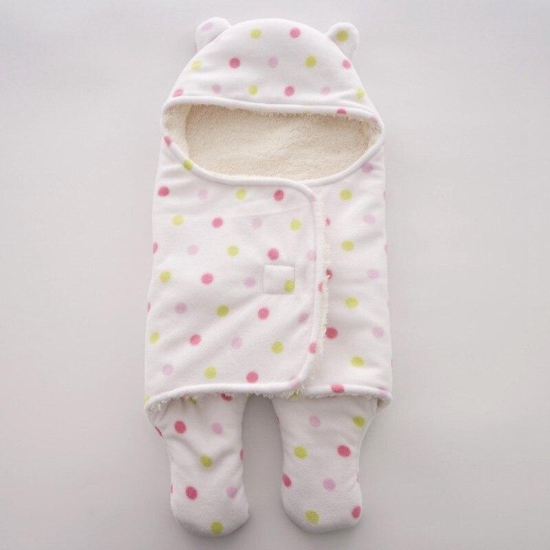 MOTOHOOD Baby Blanket Infant Thicken Flannel Swaddle Stroller Cartoon Winter Blanket Newborn Baby Bedding Blankets Sleeping Bag  (6)