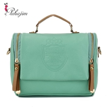 new 2015  preppy style stamp one shoulder bags women handbag leather handbags messenger