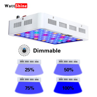 Dimmer Aquarium light Coral lamp 180W Fish & Aquatic lightings led grow lights for Marine aquarium Fish tank lights three modes