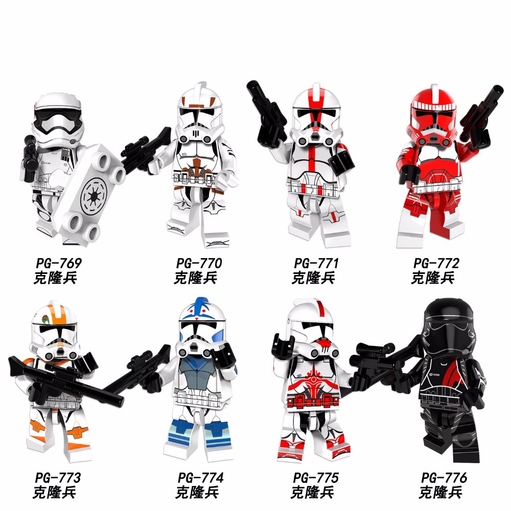 PG8097 Clone Trooper Figure Imperial Army Military Stormtrooper Bricks Building Blocks Collection Toys for Children czhy 8pcs star wars clone trooper figure stormtrooper building block best collection model bricks gift toys for children pg8078