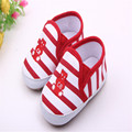 Classic Striped Baby Girls First Walkers Shoes Boys Casual Sports Shoes Hard Bottom Infant Prewalker Crib 0-18month