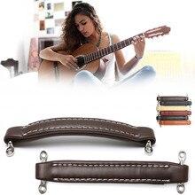 Estilo Vintage de cuero Guitarras Amplificadores asa para guardabarros amperios Guitarras Ukuleles Instrumentos musicales piezas Accesorios