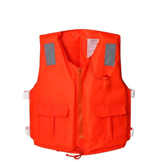 Thickened professional adult pocket zipper with lifejackets with whistles drifting foam fishing jacket Swim Vest